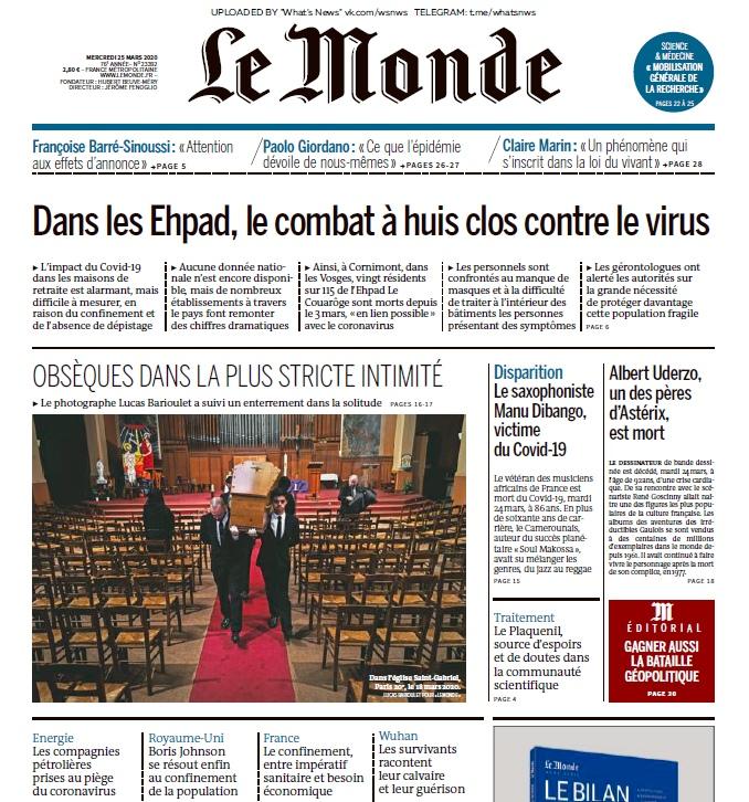 Le Monde – 25.03.2020