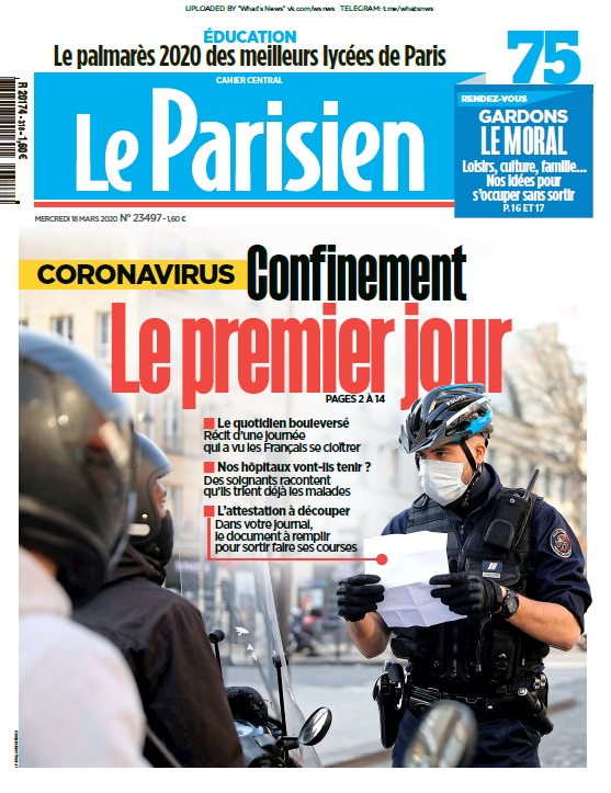 Le Parisien – 18.03.2020