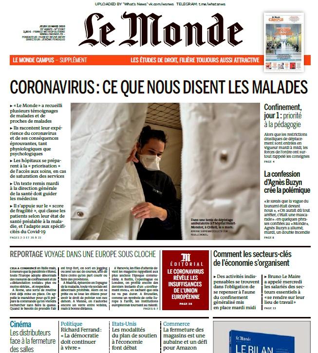 Le Monde – 19.03.2020