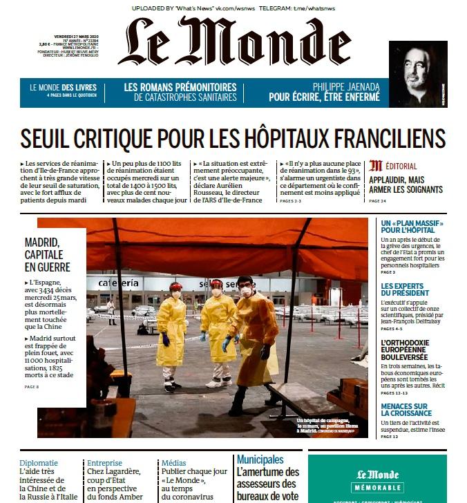 Le Monde – 27.03.2020