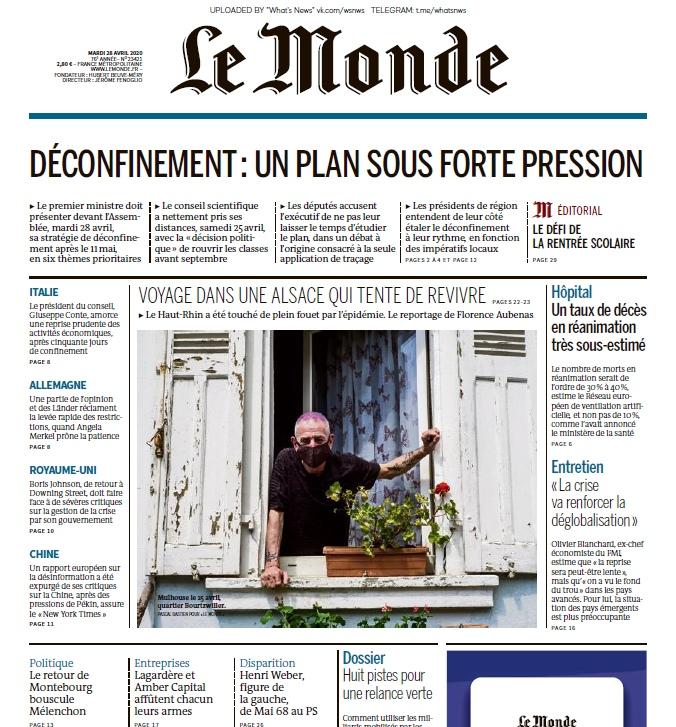 Le Monde – 28.04.2020