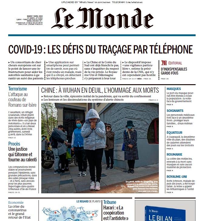 Le Monde – 07.04.2020