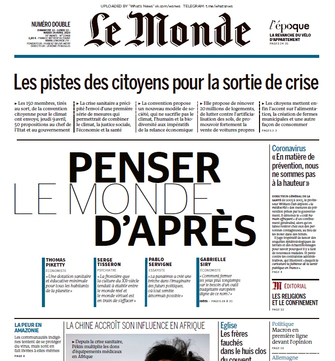 Le Monde – 13.04.2020