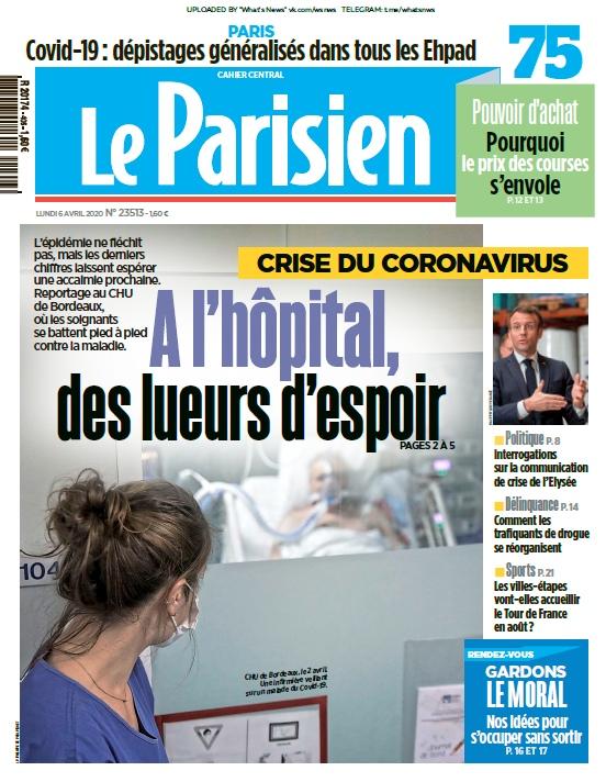 Le Parisien – 06.04.2020