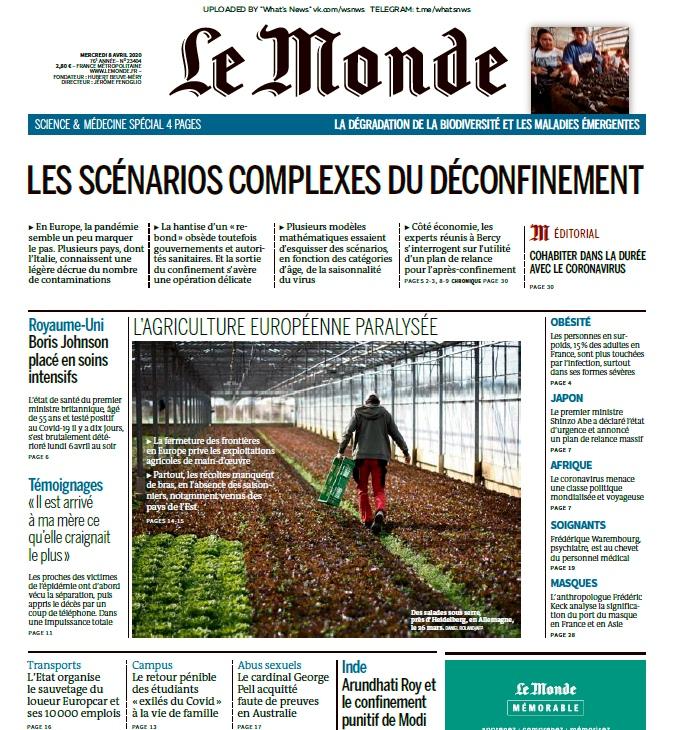 Le Monde – 08.04.2020