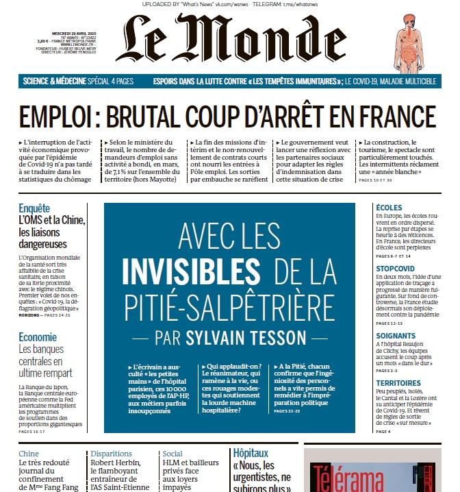 Le Monde – 29.04.2020