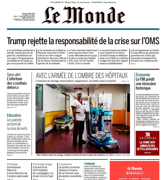 Le Monde – 16.04.2020