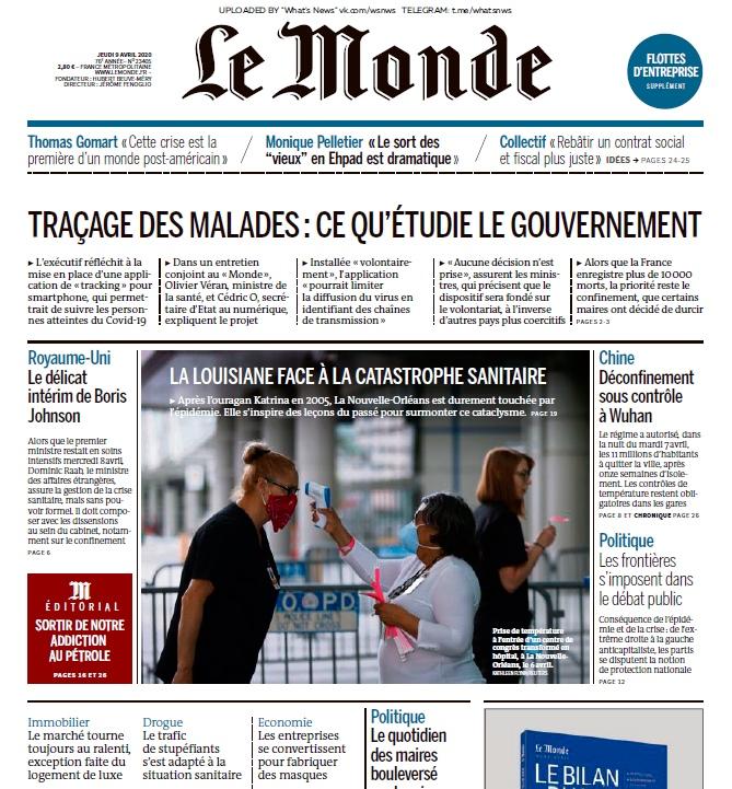 Le Monde – 09.04.2020