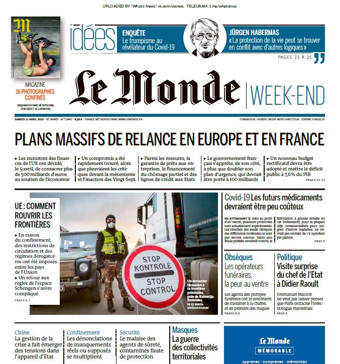 Le Monde – 11.04.2020