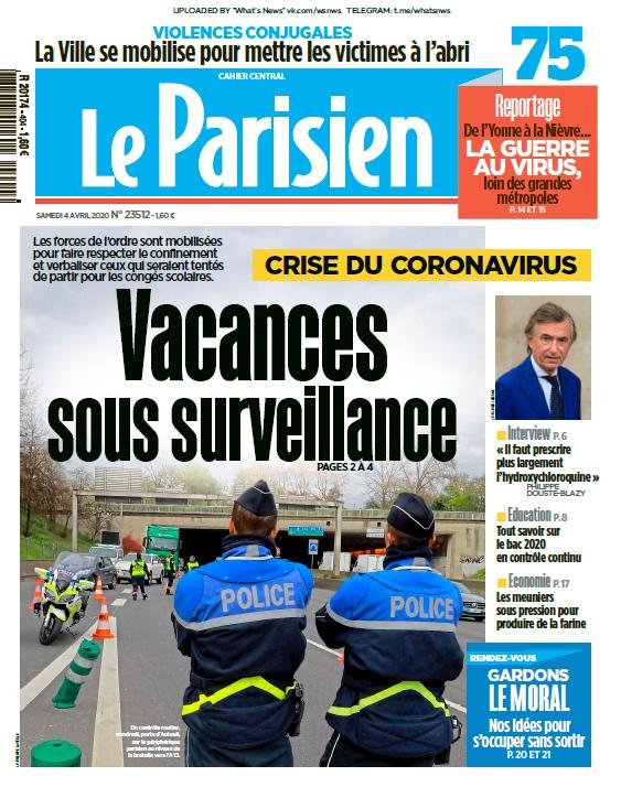 Le Parisien – 04.04.2020