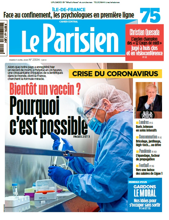 Le Parisien – 07.04.2020