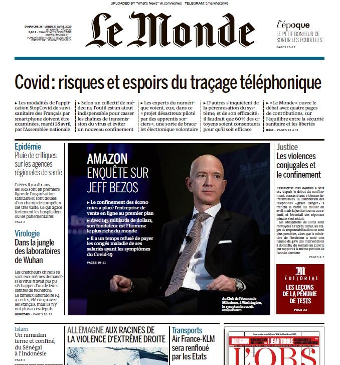 Le Monde – 26.04.2020