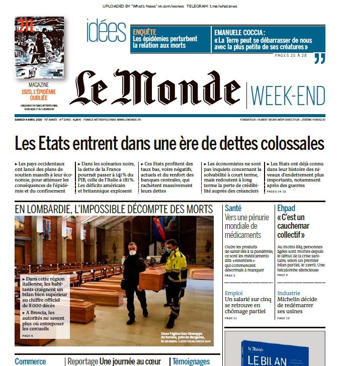 Le Monde – 04.04.2020