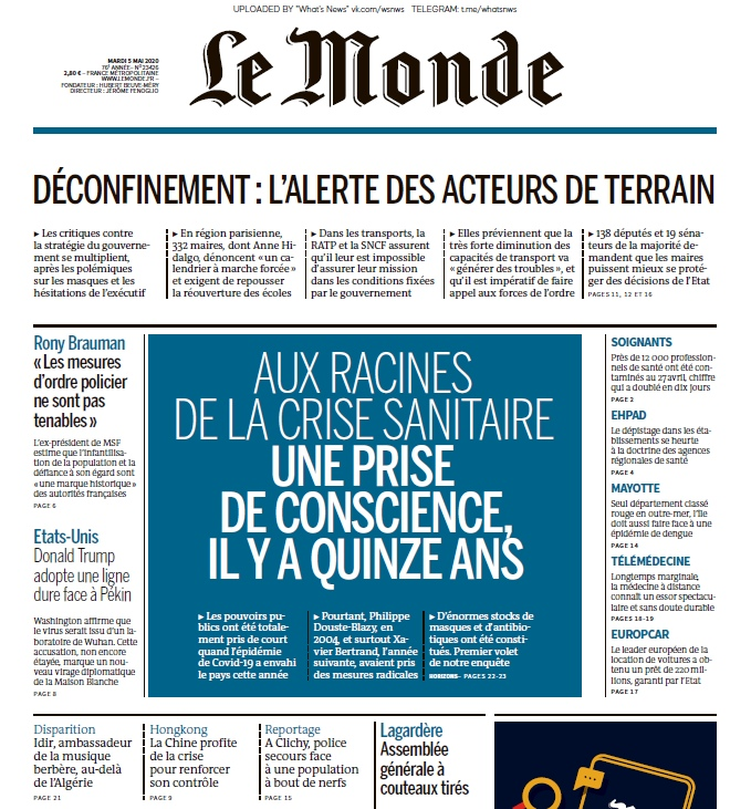 Le Monde – 05.05.2020