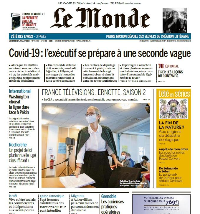 Le Monde – 24.07.2020
