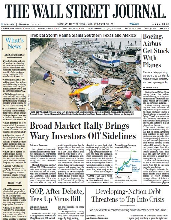 The Wall Street Journal – 27.07.2020