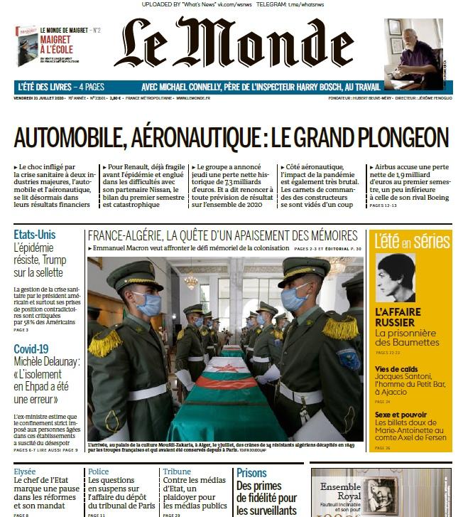 Le Monde – 31.07.2020