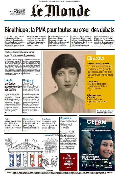 Le Monde – 28.07.2020