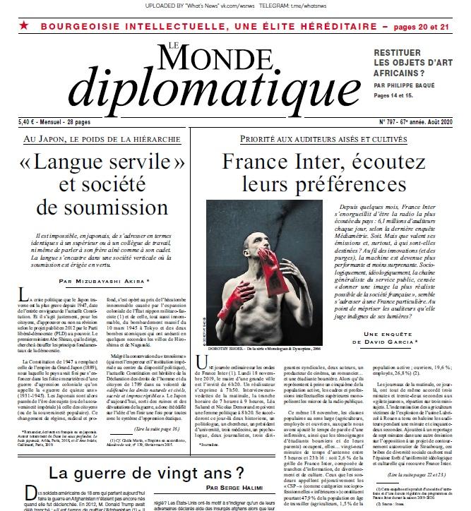 Le Monde Diplomatique – 08.2020