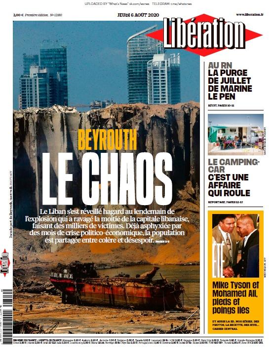 Libération – 06.08.2020
