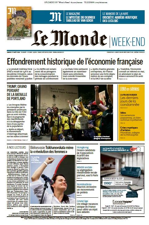 Le Monde – 01.08.2020