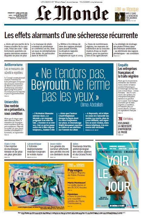 Le Monde – 09.08.2020 – 10.08.2020