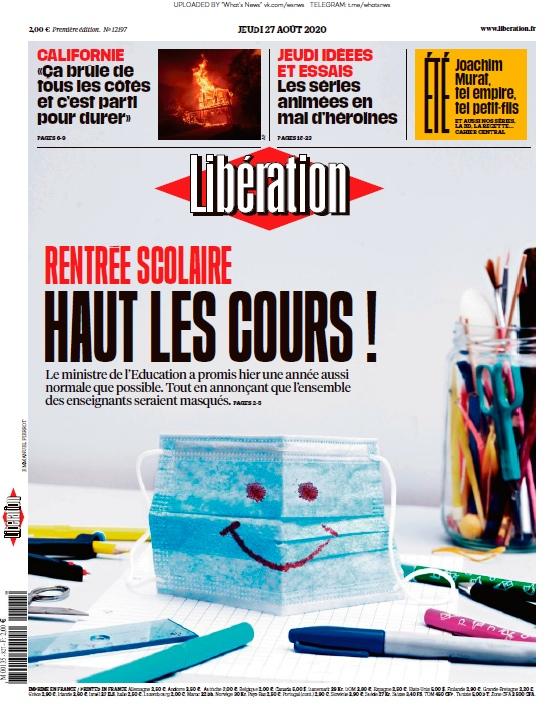 Libération – 27.08.2020