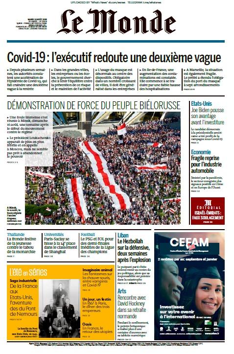 Le Monde – 18.08.2020