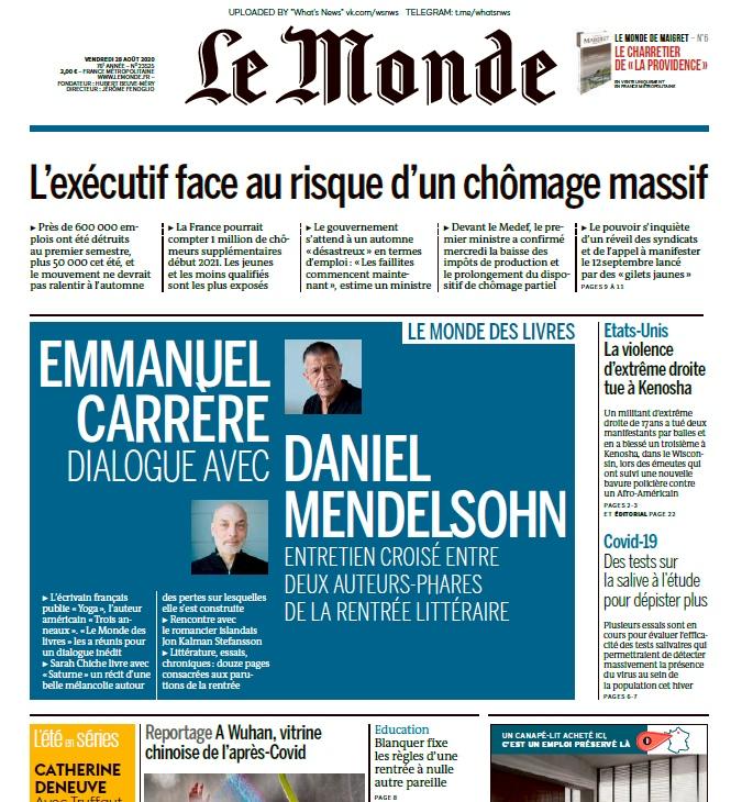 Le Monde – 28.08.2020