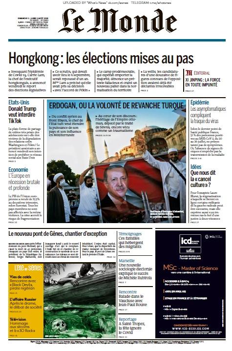 Le Monde – 02.08.2020 – 03.08.2020