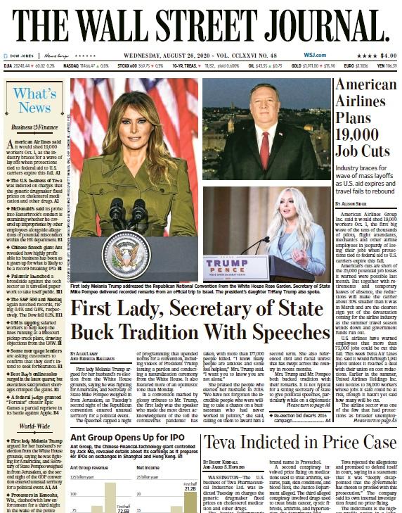 The Wall Street Journal – 26.08.2020