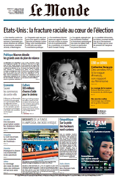 Le Monde – 30.08.2020