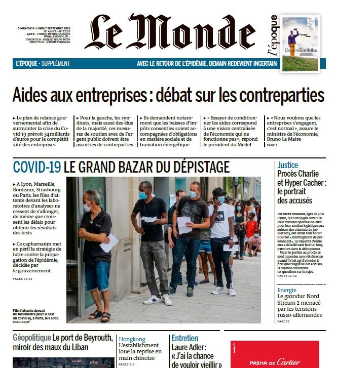 Le Monde – 06.09.2020 – 07.09.2020