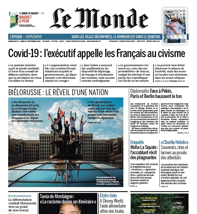 Le Monde – 13.09.2020 – 14.09.2020