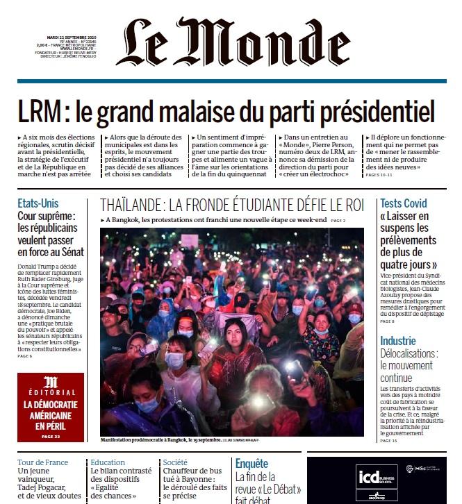 Le Monde – 22.09.2020