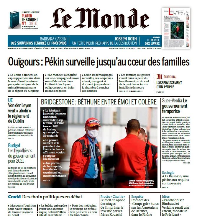 Le Monde – 18.09.2020