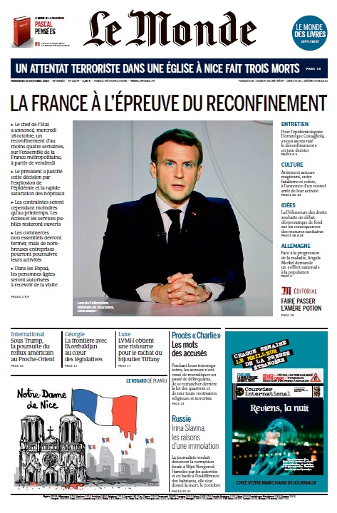 Le Monde – 30.10.2020