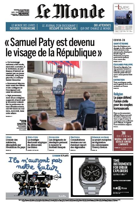 Le Monde – 23.10.2020