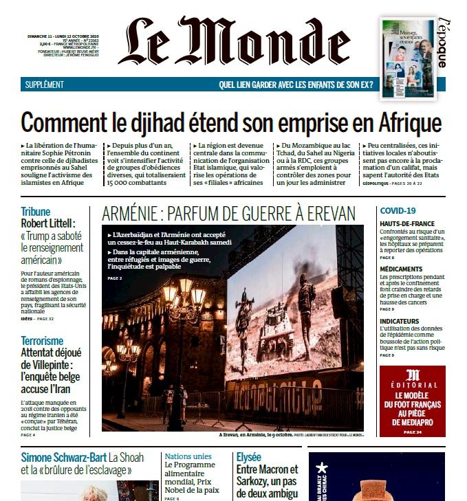 Le Monde – 11.10.2020 – 12.10.2020