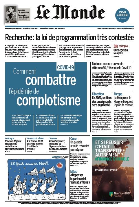 Le Monde – 18.11.2020